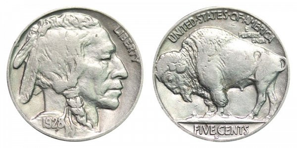 1928 S Buffalo Nickels Indian Head Nickel Line Type