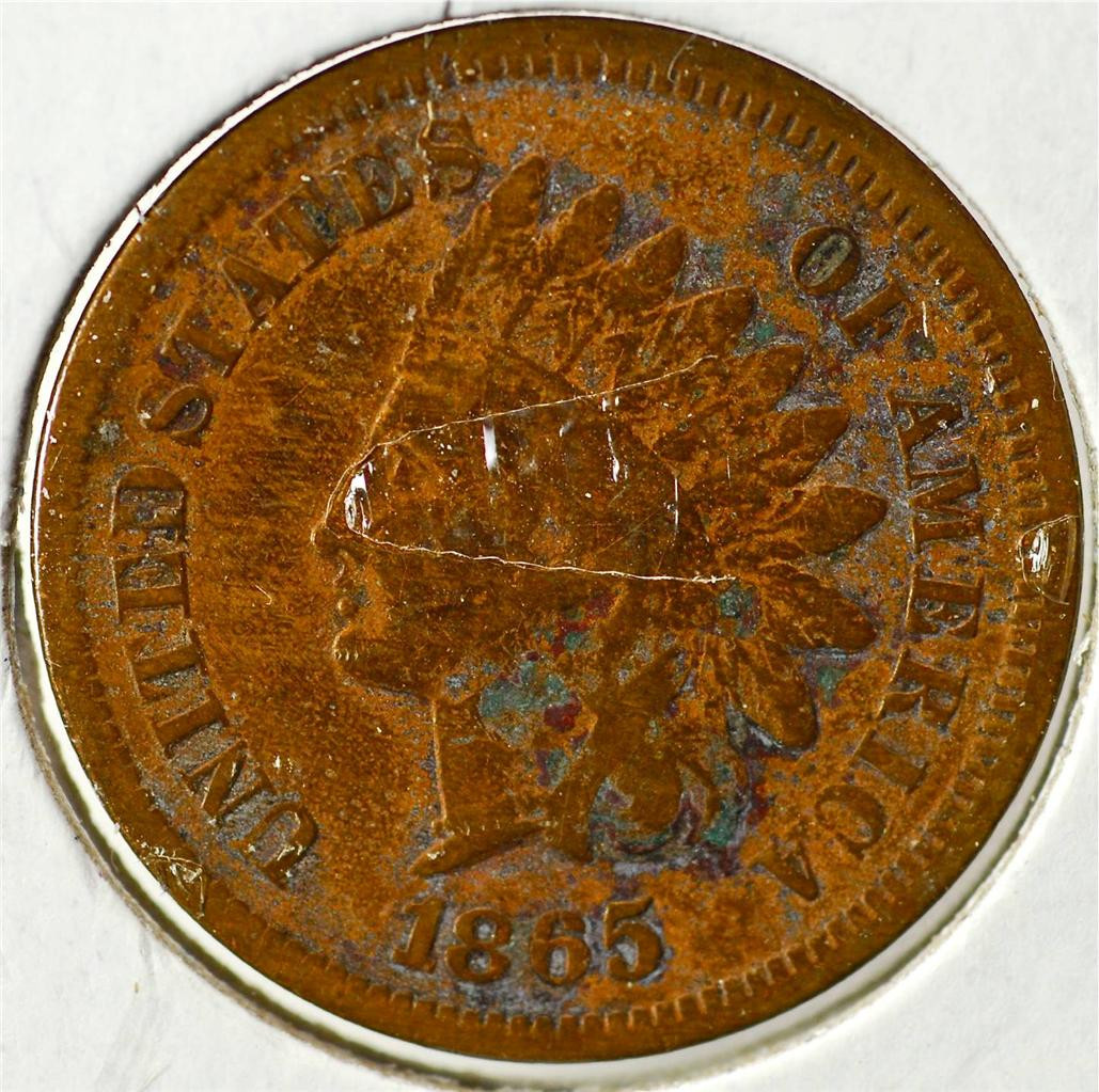 1865 Indian Head Penny IHCE8