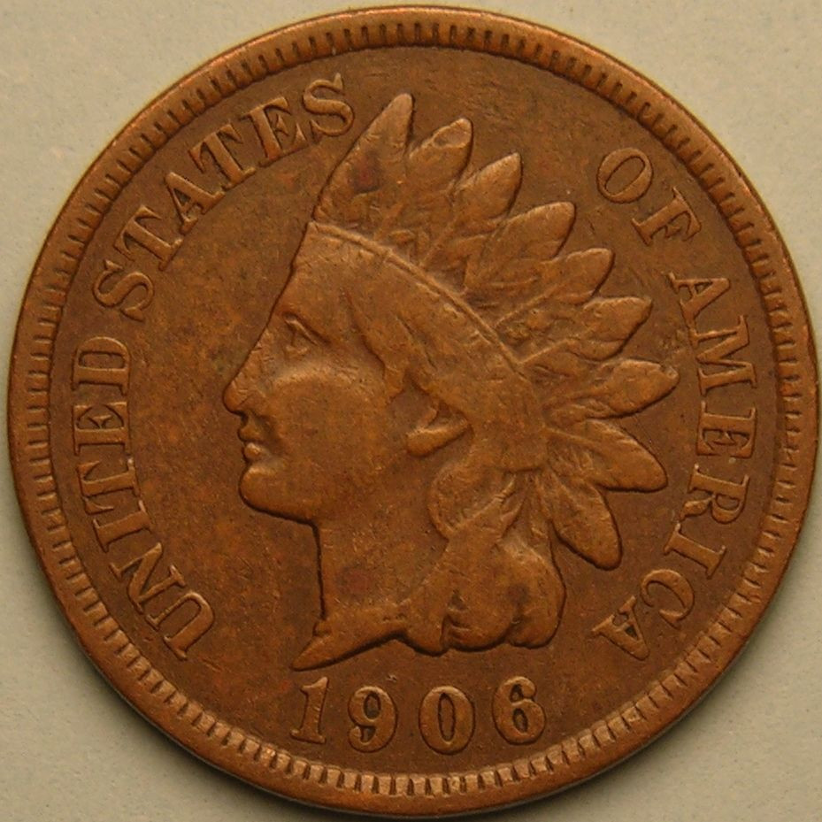1906 INDIAN HEAD CENT AE 220