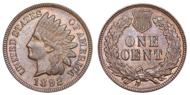 1892 Indian Head Cent Bronze posite Penny Value and Prices