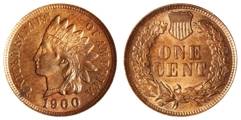 1900 Indian Head Cent Bronze posite Penny Value and Prices