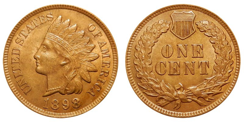 1898 Indian Head Cent Bronze posite Penny Value and Prices