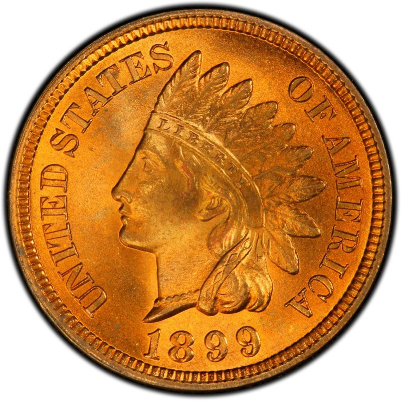 1899 Indian Head Pennies Values and Prices Past Sales