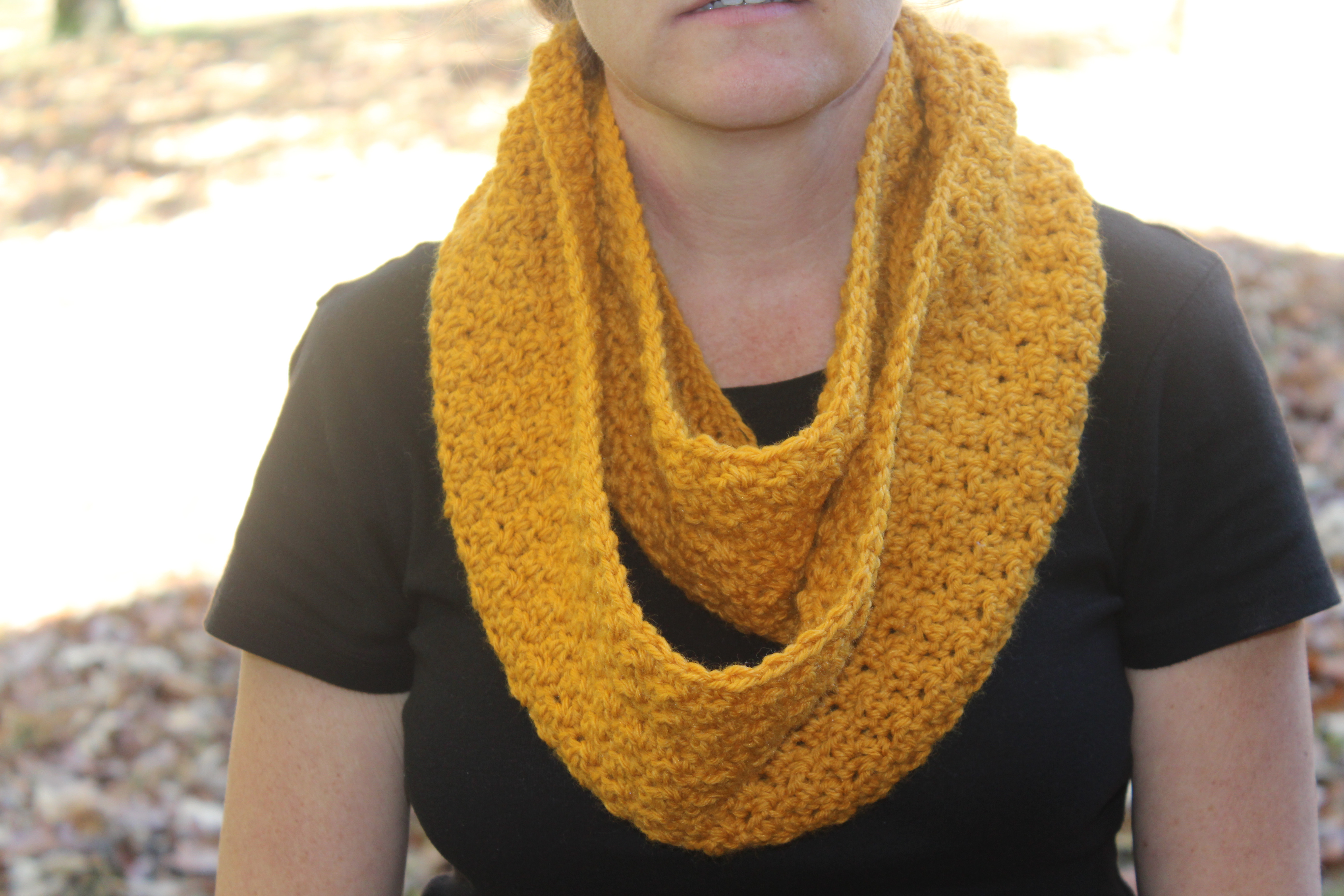 Crochet Pattern Pure and Simple Infinity Scarf