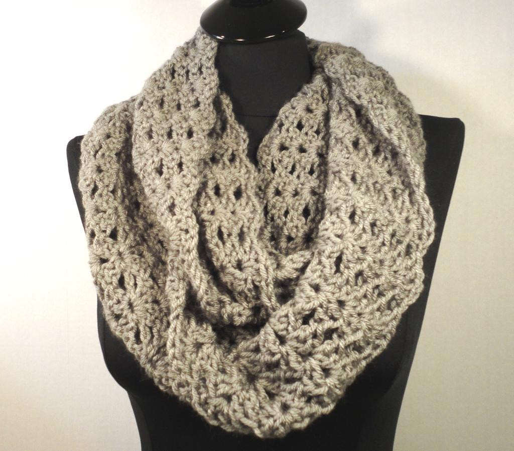 Infinity Scarf Pattern New Crochet Pattern Infinity Scarf Dancox for Of Awesome 42 Ideas Infinity Scarf Pattern