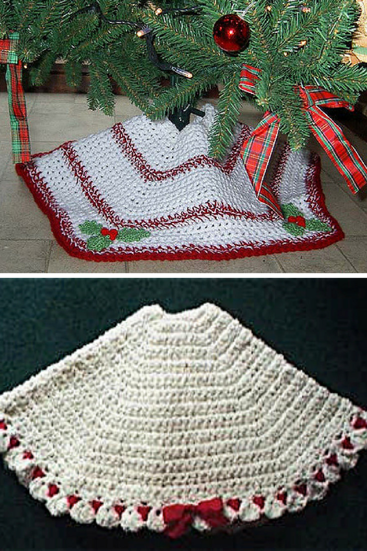 10 Crochet Christmas Tree Skirt Free Patterns Knit And