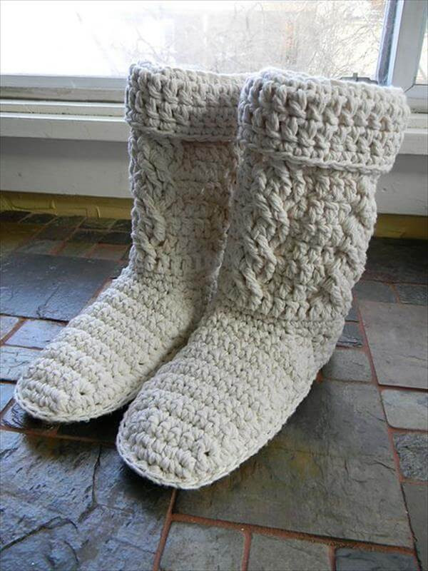 Inspirational 10 Diy Free Patterns for Crochet Slipper Boots Crochet Boot Of Awesome 46 Photos Crochet Boot