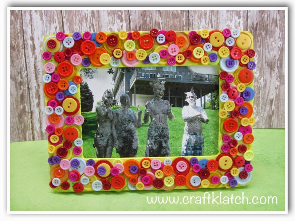 Inspirational 10 Quick and Easy button Crafts to Make with Kids Picture Frame Crafts for Kids Of Adorable 48 Models Picture Frame Crafts for Kids