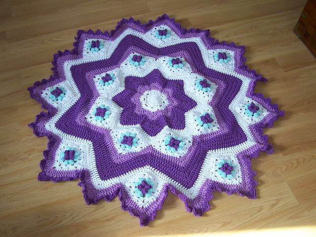Inspirational 1000 Images About Afghan Round Ripple 8 16 Points Round Afghan Crochet Pattern Of Great 44 Photos Round Afghan Crochet Pattern