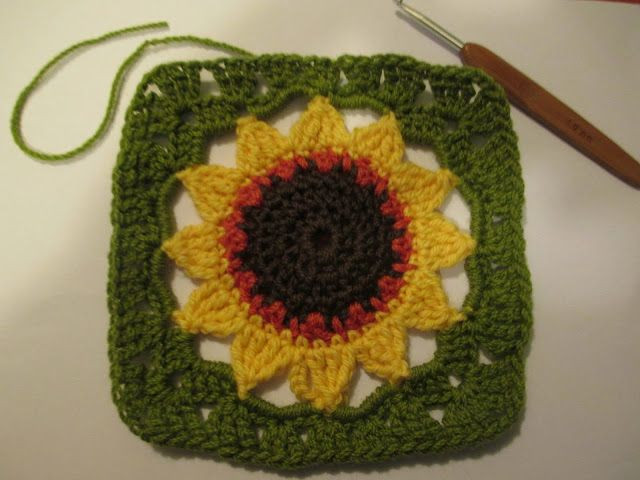 Inspirational 1000 Images About Crochet Squares On Pinterest Crochet Sunflower Granny Square Of Delightful 41 Images Crochet Sunflower Granny Square