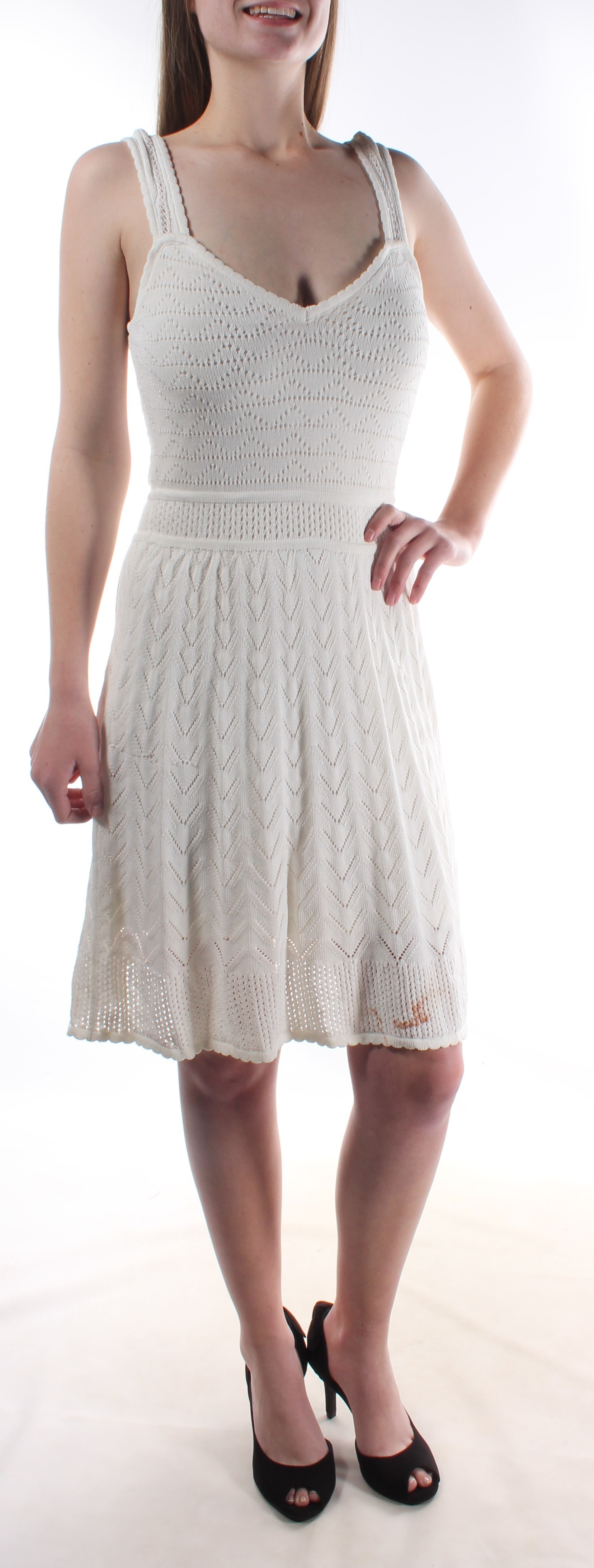 Inspirational $108 New Ivory Guess Crochet Overlay Fit Flare Dress M Ivory Crochet Dress Of Brilliant 41 Ideas Ivory Crochet Dress