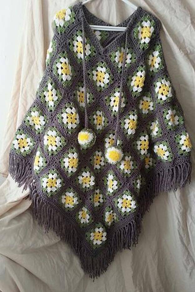 Inspirational 16 Easy Crochet Poncho Patterns for Women I Diy Projects Granny Square Poncho Of Adorable 49 Photos Granny Square Poncho