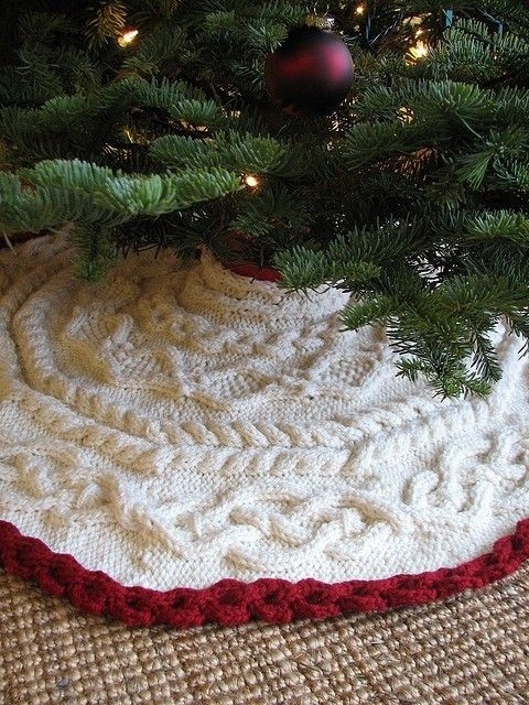 Inspirational 17 Best Ideas About Crochet Tree Skirt On Pinterest Knit Tree Skirt Pattern Of Delightful 49 Images Knit Tree Skirt Pattern