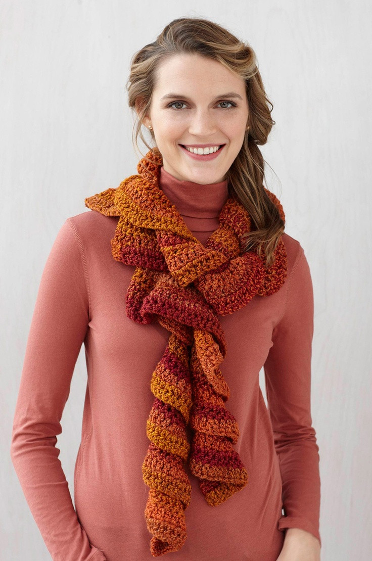 Inspirational 17 Best Images About Crochet Scarves Curly On Ruffle Scarf Of Unique 50 Pics Ruffle Scarf