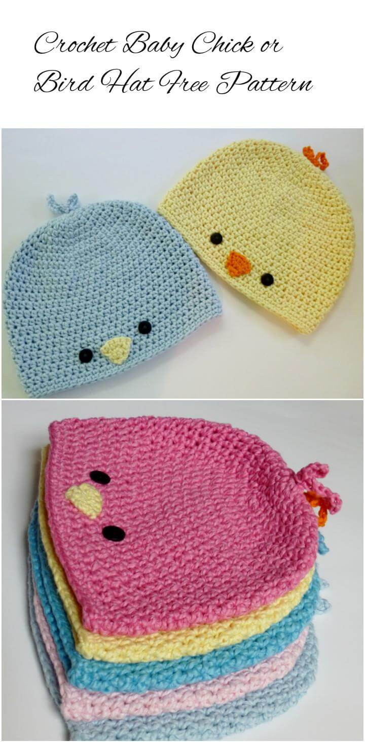 17 Free Crochet Baby Beanie Hat Patterns