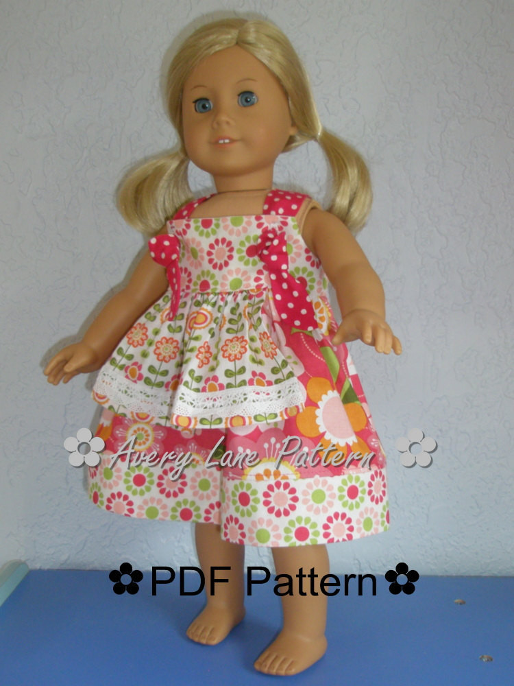 Inspirational 18 Inch Doll Clothes Pattern Apron Knot Dress Boutique Sewing Free American Girl Doll Clothes Patterns Of Lovely 49 Models Free American Girl Doll Clothes Patterns
