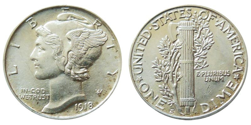 Inspirational 1918 S Mercury Silver Dimes Value and Prices Mercury Dime Prices Of Superb 49 Ideas Mercury Dime Prices