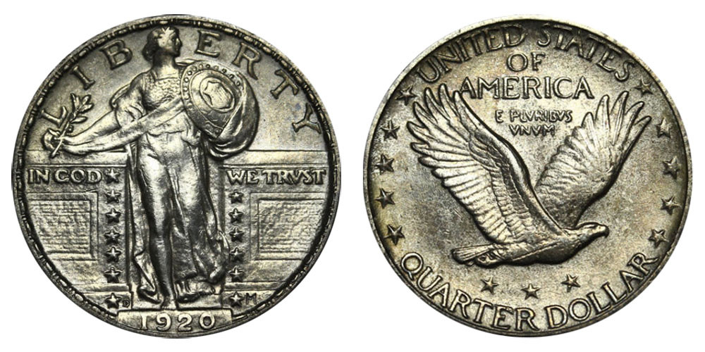 1920 D Standing Liberty Quarters Type 2 Value and Prices