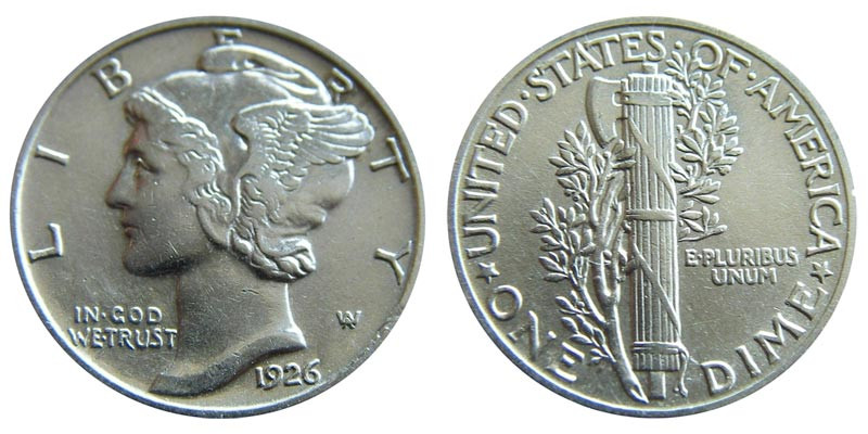 1926 Mercury Silver Dimes Value and Prices