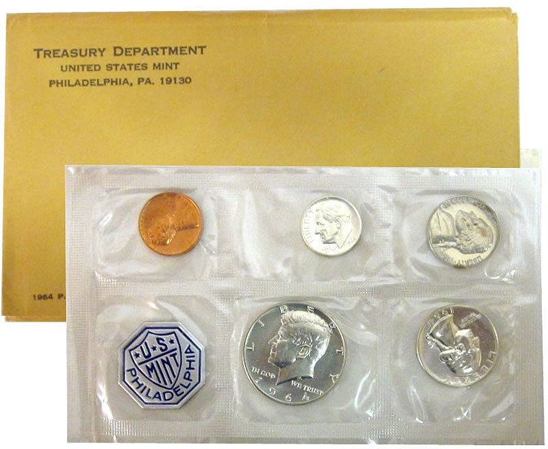 1964 P US Mint Silver Proof Coin Set