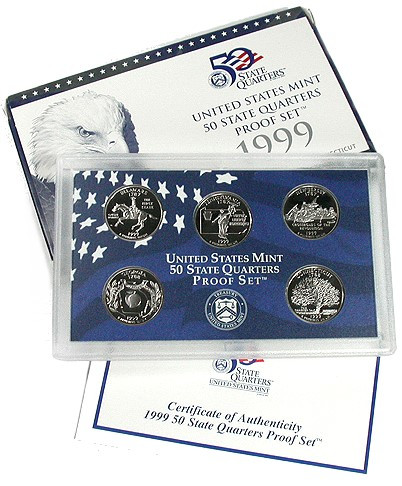 1999 Mint Issued State Quarter Proof Sets MintProducts