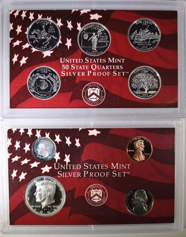 Inspirational 1999 United States Mint Silver Proof Set Box Coa United States Mint Proof Set Of Charming 43 Photos United States Mint Proof Set