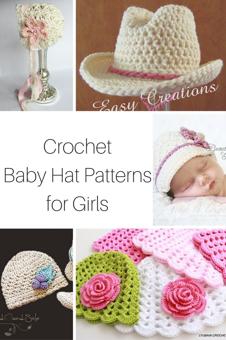 20 Crochet Baby Hat Patterns for Girls
