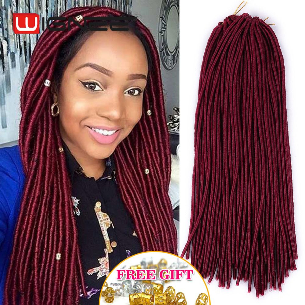 Inspirational 20 Inches Havana Mambo Faux Locs Braids Synthetic Braiding Burgundy Faux Locs Crochet Of Beautiful 41 Models Burgundy Faux Locs Crochet
