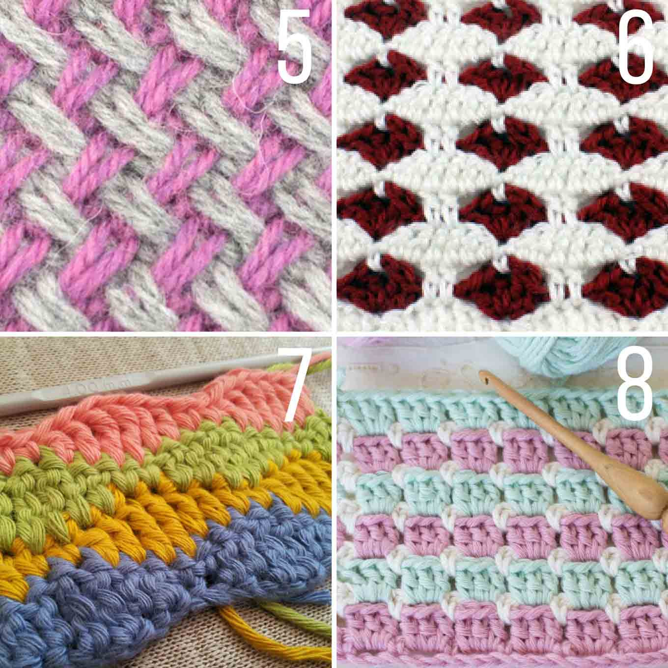 Inspirational 20 Multi Color Crochet Stitch Tutorials Make & Do Crew Crochet Stitches with Pictures Of Marvelous 46 Photos Crochet Stitches with Pictures