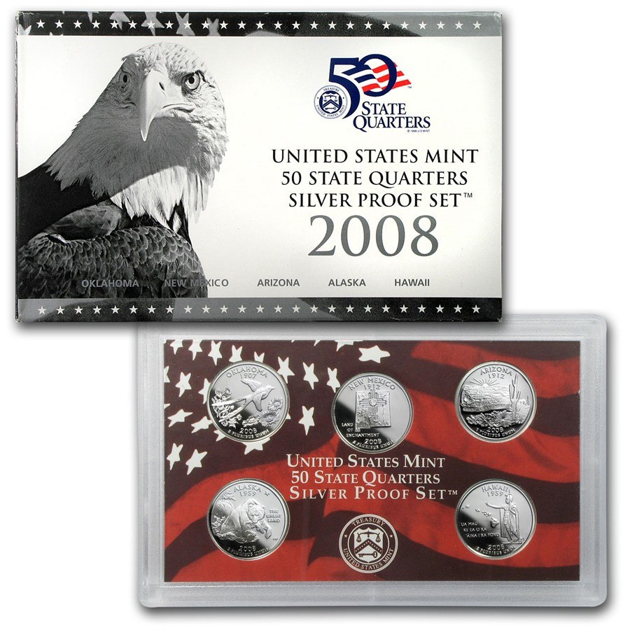 Inspirational 2008 U S Proof Set Silver Quarters Ly State Quarter Set Of Superb 44 Pictures State Quarter Set