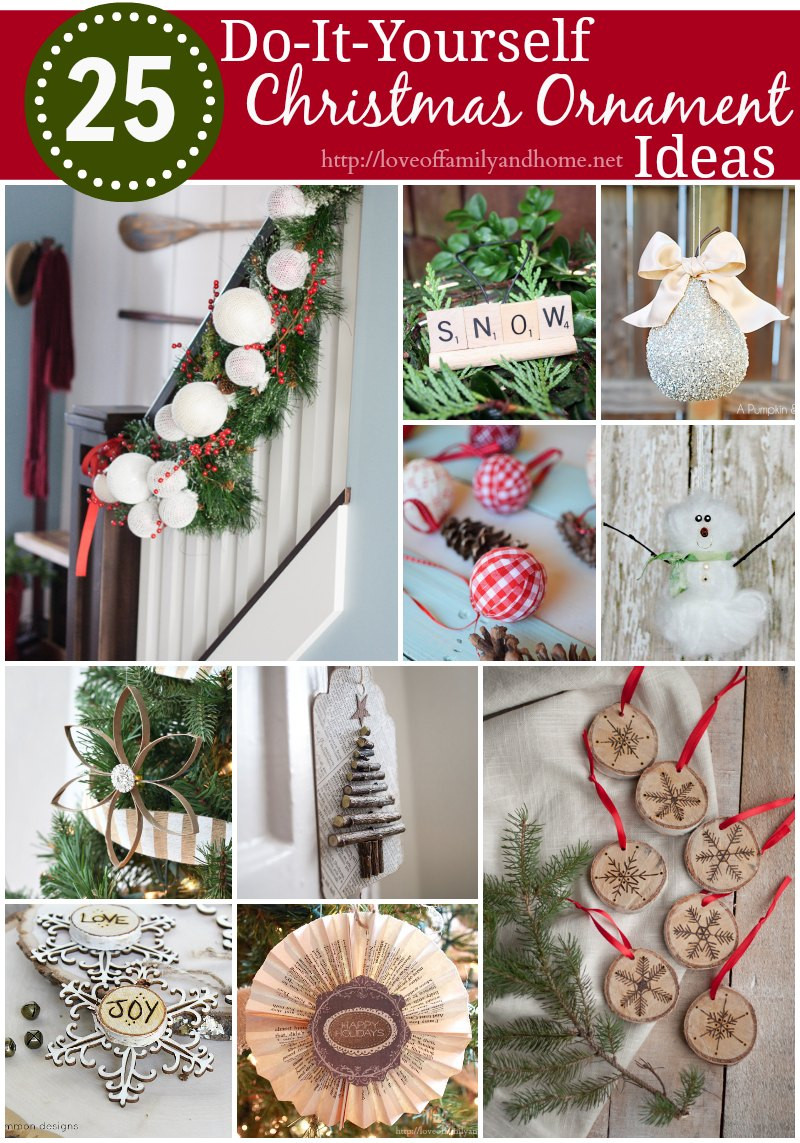 Inspirational 25 Diy Christmas ornament Ideas Love Of Family & Home Diy Xmas ornaments Of Amazing 50 Ideas Diy Xmas ornaments