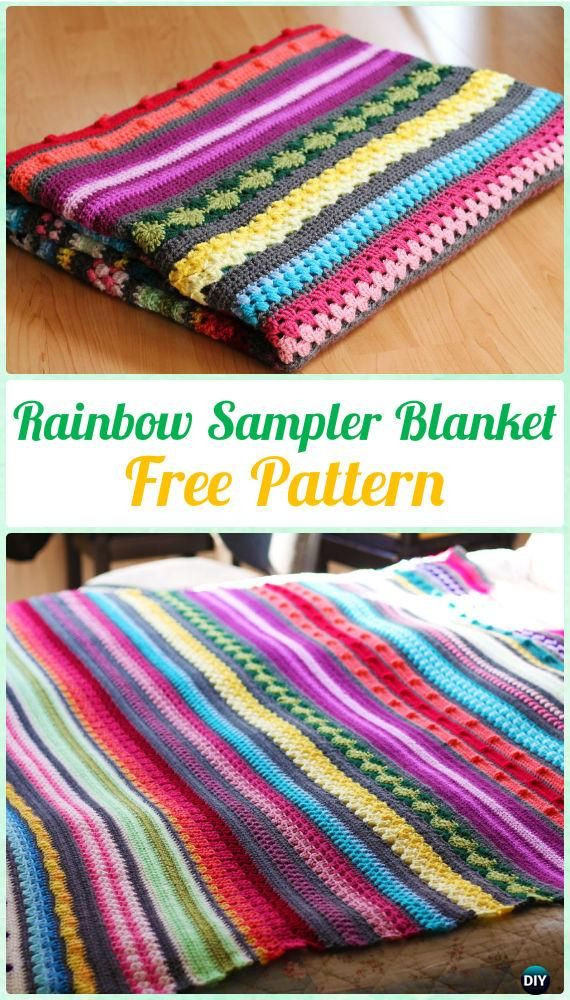 Inspirational 25 Unique Crochet Sampler Afghan Pattern Ideas On Rainbow Crochet Blanket Of Great 40 Photos Rainbow Crochet Blanket