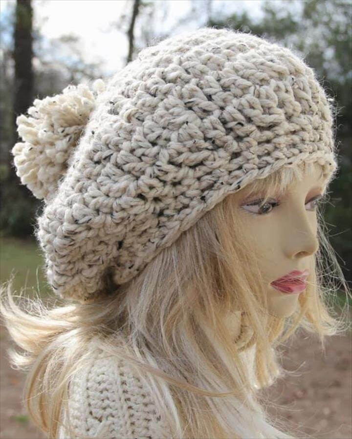 Inspirational 30 Amazing Crochet Pom Pom Hat Ideas Chunky Crochet Hat Of Awesome 45 Models Chunky Crochet Hat