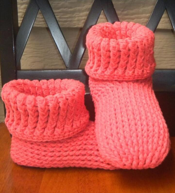Inspirational 30 Easy Fast Crochet Slippers Pattern Knitted Slipper Boots Of Superb 41 Pics Knitted Slipper Boots