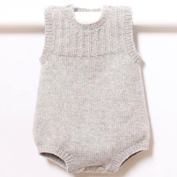 41 Baby Romper Knitting Pattern Instructions in