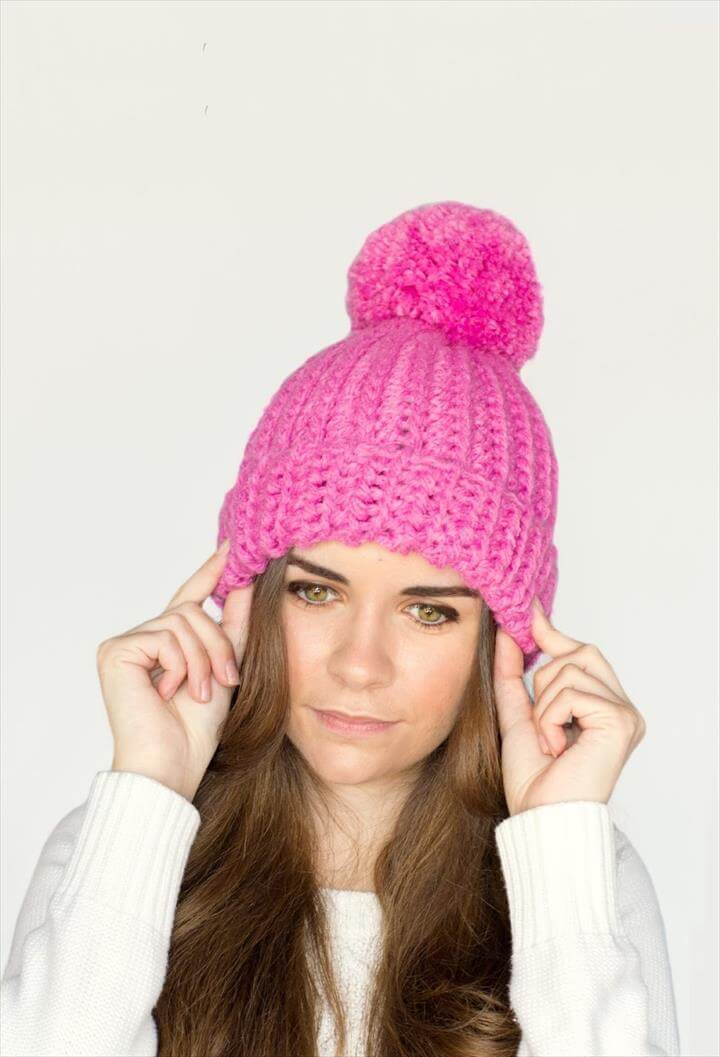 Inspirational 45 Super Diy Crochet Brimmed Beanie Hat Design Pink Crochet Hat Of Great 43 Models Pink Crochet Hat