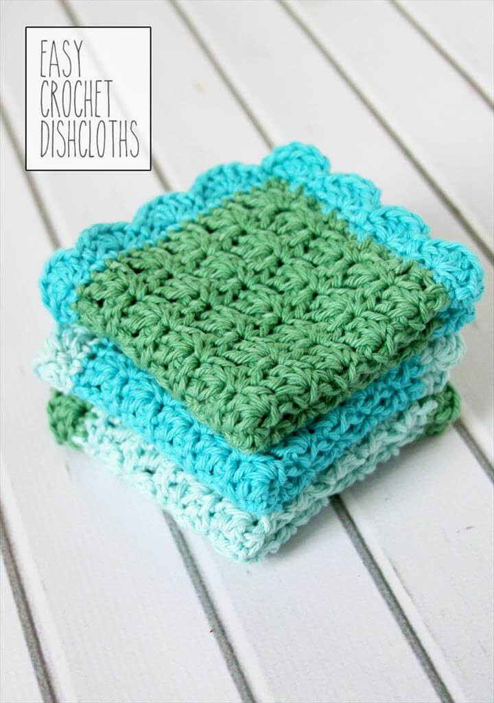 56 Quick & Easy Crochet Dishcloth