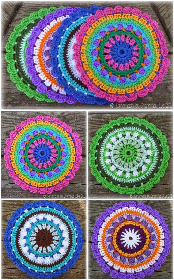 60 Free Crochet Mandala Patterns DIY & Crafts