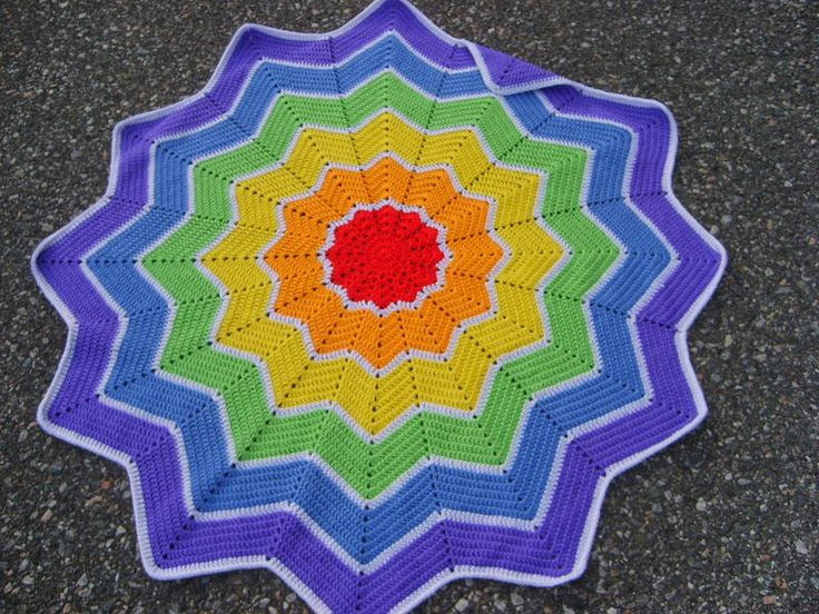 Inspirational 66 Best Images About Afghans Round Ripple 12 Point Round Crochet Blanket Of Fresh 46 Models Round Crochet Blanket