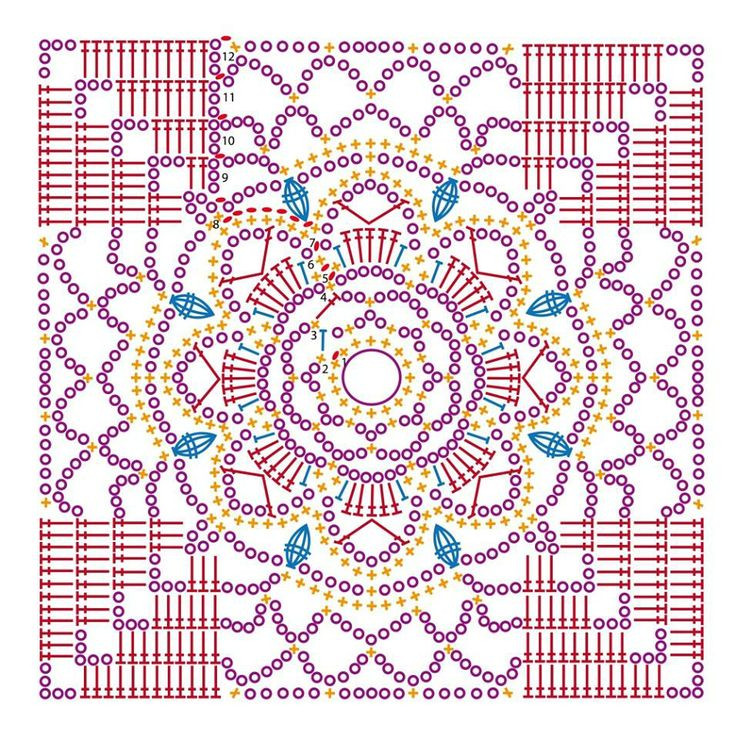 661 best images about Crochet granny square on Pinterest