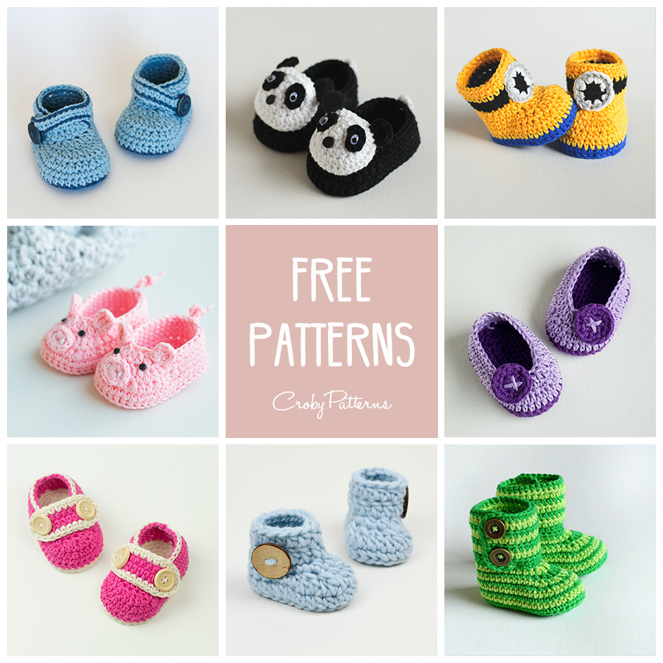 Inspirational 8 Free Crochet Baby Booties Patterns – Croby Patterns Crochet Baby socks Of Beautiful Crochet Baby Booties Patterns for Sweet Little Feet Crochet Baby socks