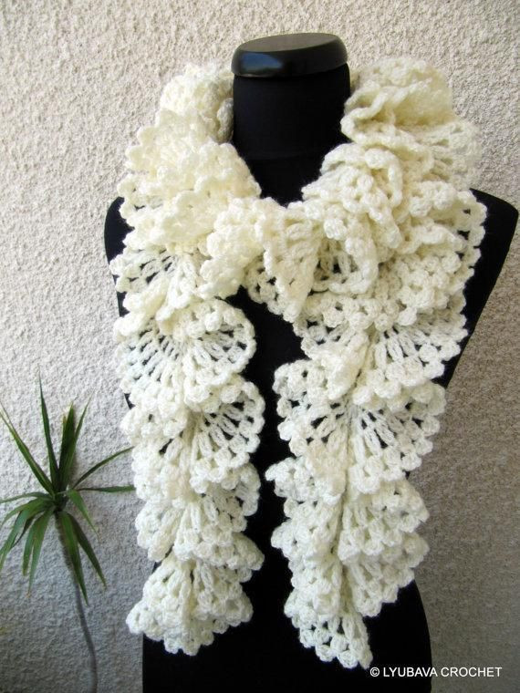 Inspirational 98 Best Images About Crochet Patterns Scarves On Pinterest Ruffle Scarf Of Unique 50 Pics Ruffle Scarf