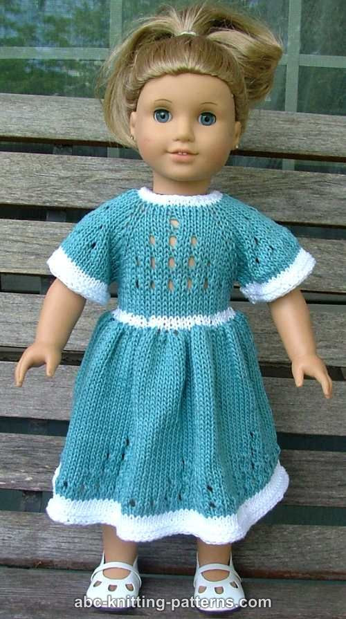Inspirational Abc Knitting Patterns American Girl Doll Eyelet Dress Free Knitting Patterns for American Girl Dolls Of Delightful 41 Models Free Knitting Patterns for American Girl Dolls