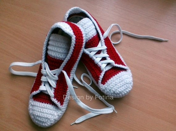 Inspirational Adult Red Slippers Crochet Converse Wool Slippers by Crochet Converse Slippers Of Amazing 40 Ideas Crochet Converse Slippers