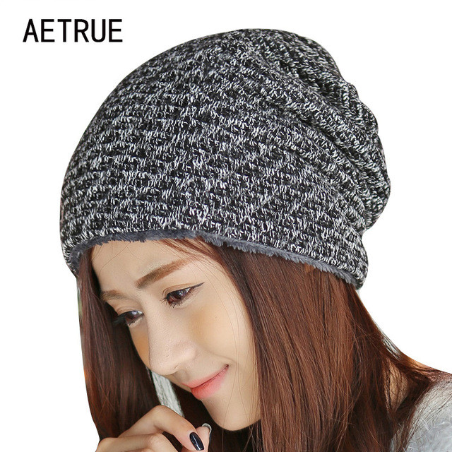 Inspirational Aliexpress Buy Winter Hat Knitted Fur Beanies Warm Ladies Knitted Hats Of Adorable 50 Pictures Ladies Knitted Hats