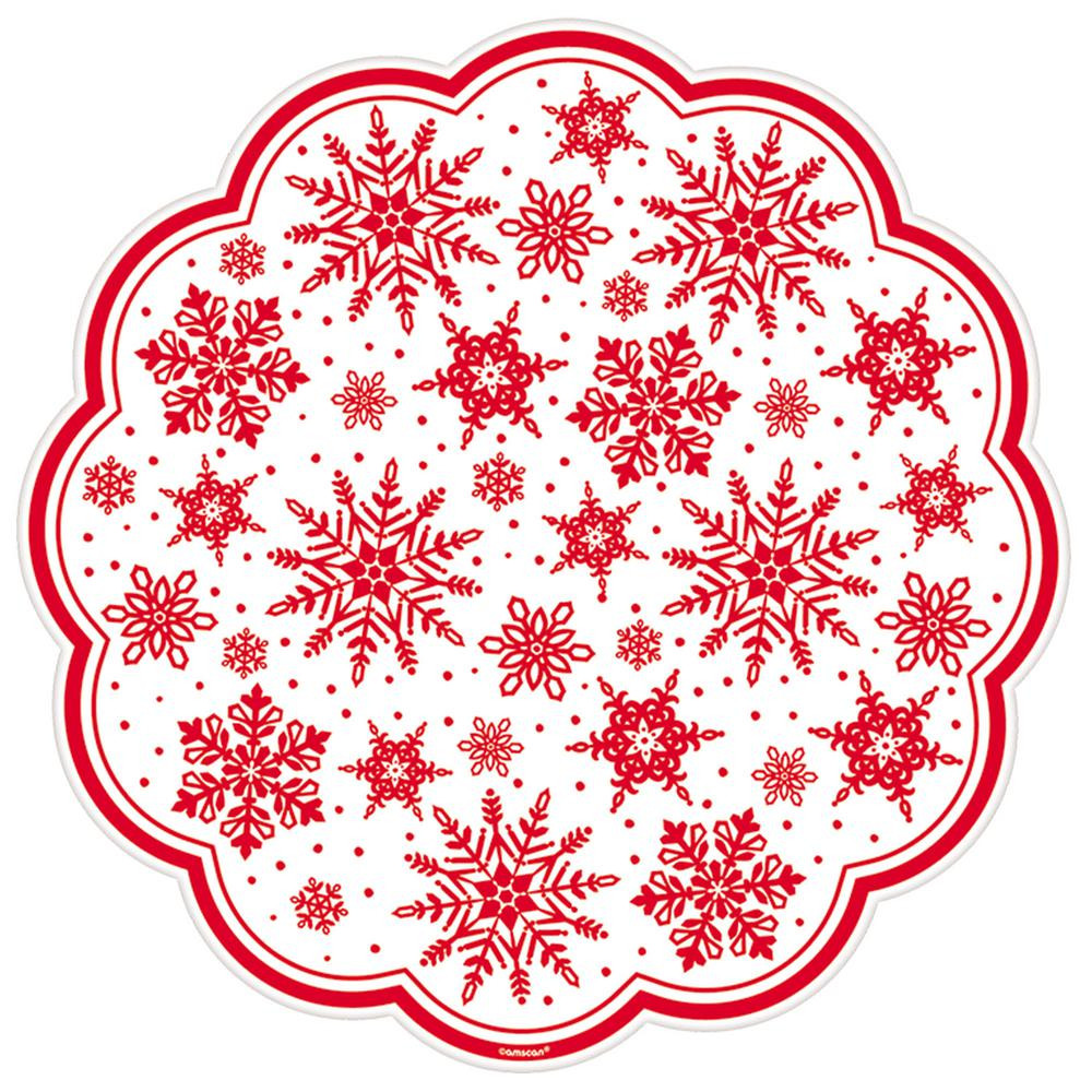 Inspirational Amscan Red Printed Snowflakes 12 In Paper Doilies 18 Christmas Doilies Of Wonderful 44 Photos Christmas Doilies