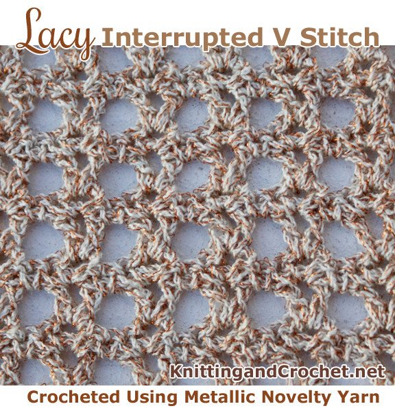 Inspirational An Easy Crochet Lace V Stitch Pattern – Knitting and Crochet Lacy Crochet Stitches Of New 49 Photos Lacy Crochet Stitches