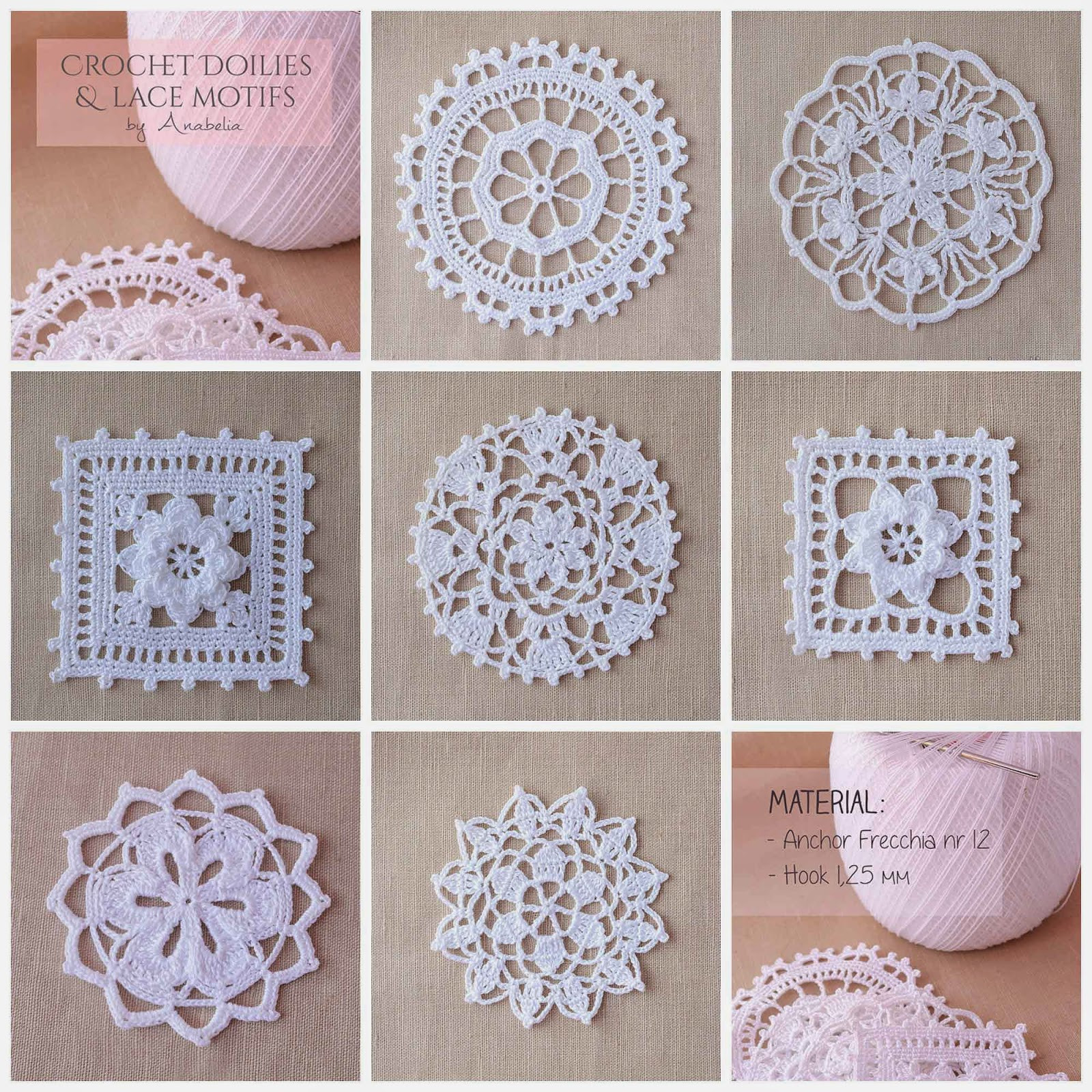 Inspirational Anabelia Craft Design Crochet Doilies and Lace Motifs Crochet Lace Of Amazing 43 Photos Crochet Lace