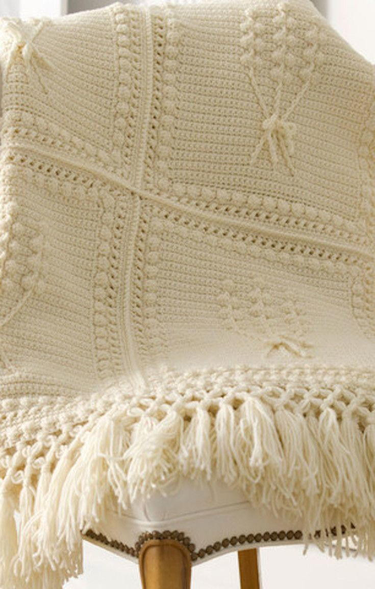 Aran Nose Crochet Throw
