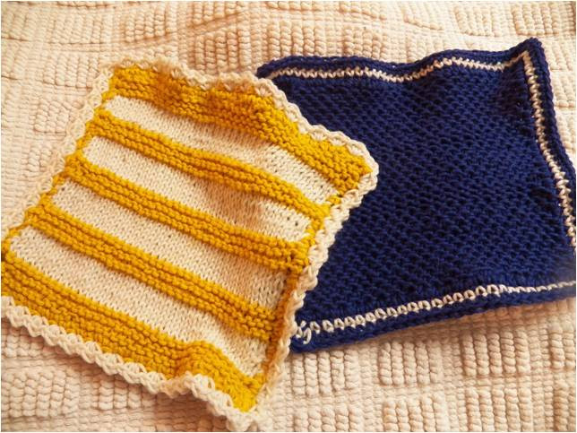 Art Threads Monday Project Knit Dish Cloths